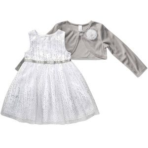 6-9 Month White Dress Set